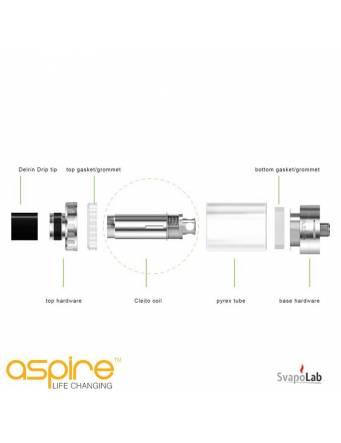 Aspire Cleito dual clapton coil 0,2ohm montaggio
