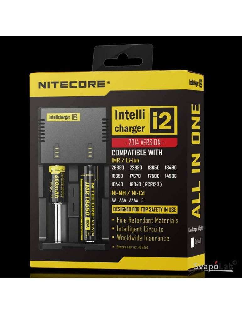 Nitecore Intellicharger I2 Li-ion / NiMH caricabatterie