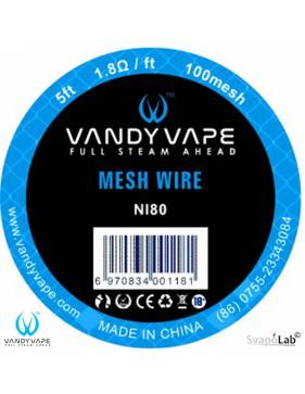 Vandy Vape MESH Wire NI80/100mesh 1,8ohm/ft (cm 152,4)