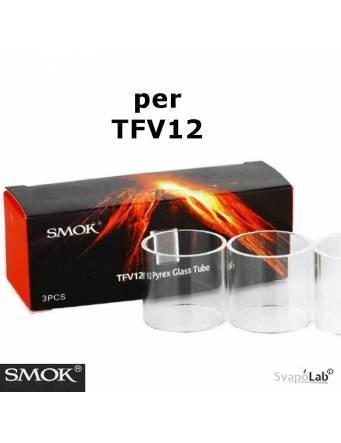 Smok TFV12 pirex glass tube di ricambio (confez. 3 pz)
