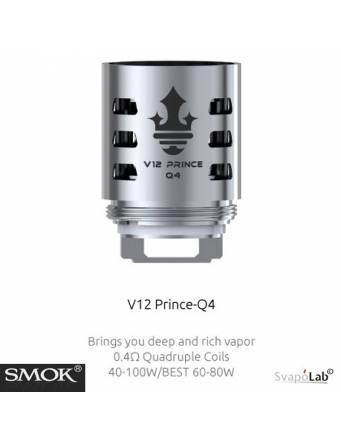 Smok V12 Prince Q4 quadruple coil 0,4ohm/40-100W (1 pz) per TFV12 Prince