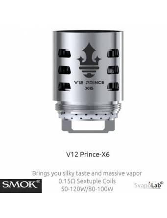 Smok V12 Prince X6 sextuple coil 0,15ohm/50-120W (1 pz) per TFV12 Prince