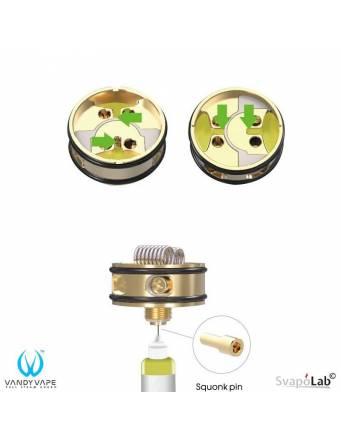 Vandy Vape PULSE 24 BF RDA dettaglio base e squonk pin