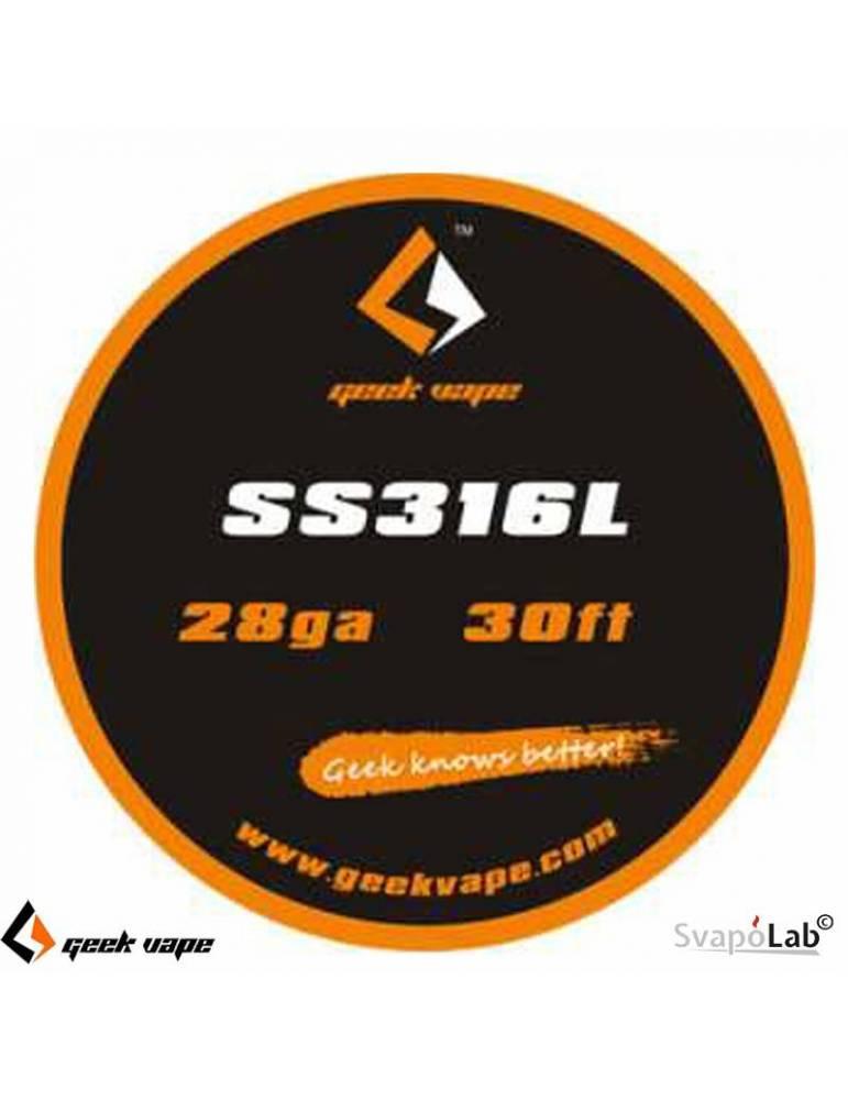 Geekvape SS316L filo resistivo 28 GA (10mt)