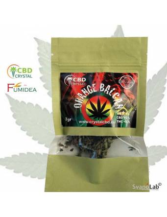 Crystal CBD – Cannabis Orange Balcan 3 gr (THC -0,5 e CBD +10) by Fumidea