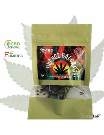 Crystal CBD – Cannabis Orange Balcan 5 gr (THC -0,5 e CBD +10) by Fumidea