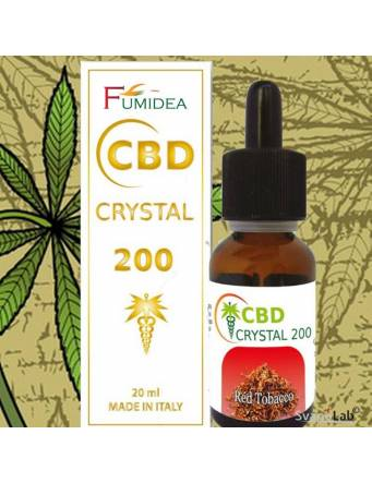 Crystal CBD 200 Red Tobacco 20ml Fumidea
