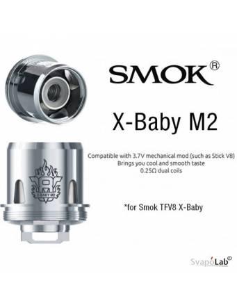 Smok V8 X baby M2 dual coil 0,25ohm (1 pz) per TFV8 X baby