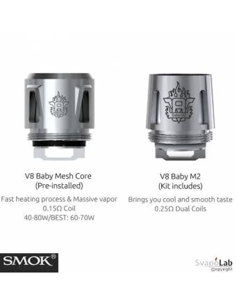 Smok RESA STICK kit 2000 mah – 7,5 ml (ø25mm, bulb ø28mm)