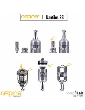 Aspire Nautilus 2S atomizer 2,6 ml (ø23mm), il posizionamento della resistenza