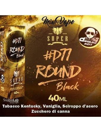 Super Flavor ROUND BLACK by D77 Mix&Vape 40ml e-liquid da miscelare