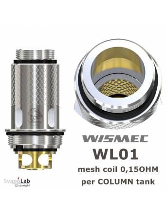 Wismec WL01 coil 0,15 ohm (1 pz) per COLUMN tank/TINKER kit
