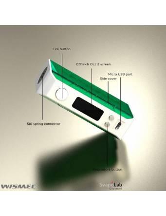 Wismec SINUOUS V200 box mod, dettaglio funzioni
