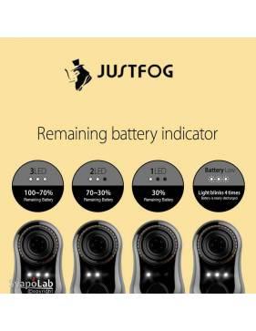 Justfog COMPACT14 kit 1500mah (con Q14), i livelli della batteria