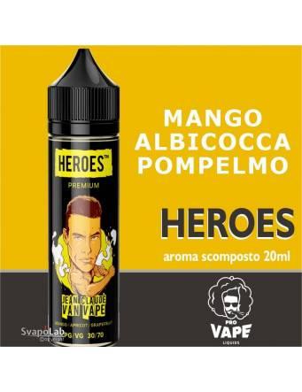 Pro Vape Heroes JEAN CLAUDE VAN VAPE 20 ml aroma scomposto + OMAGGIO Full Vg 30ml Domina