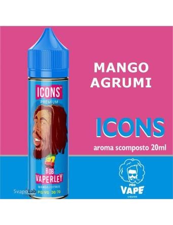 Pro Vape Icons BOB VAPERLEY 20 ml aroma scomposto + OMAGGIO Full Vg 30ml Domina