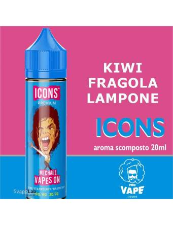 Pro Vape Icons MICHAEL VAPES ON 20 ml aroma scomposto + OMAGGIO Full Vg 30ml Domina