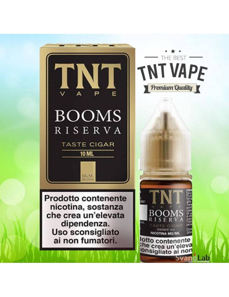 TNT Vape BOOMS RESERVE 10ml liquido pronto