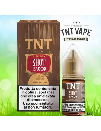 TNT Vape SHOT BACCO 10ml liquido pronto