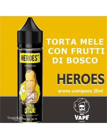 Pro Vape Heroes BRUCE VAPES 20 ml aroma scomposto + OMAGGIO Full Vg 30ml Domina