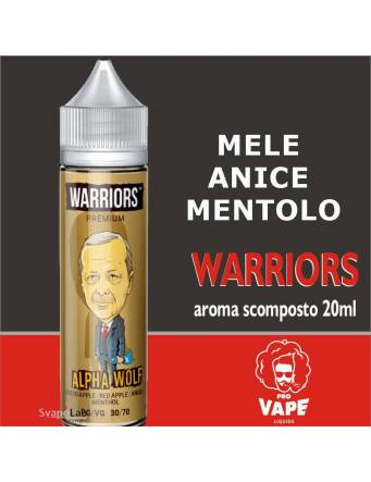 Pro Vape Warriors ALPHA WOLF 20 ml aroma scomposto + OMAGGIO (1 Full VG 30ml Domina)