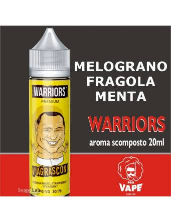 Pro Vape Warriors VIAGRASCONI 20 ml aroma scomposto + OMAGGIO Full Vg 30ml Domina