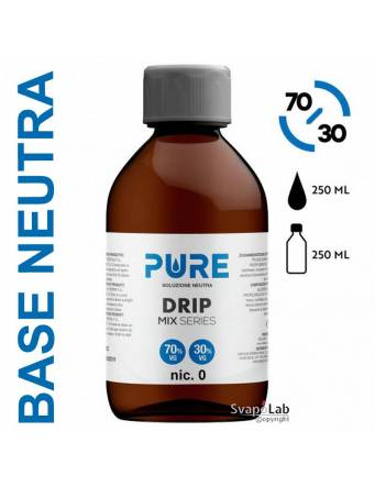 Pure BASE NEUTRA 250ml 70/30 Drip Small (senza nicotina)