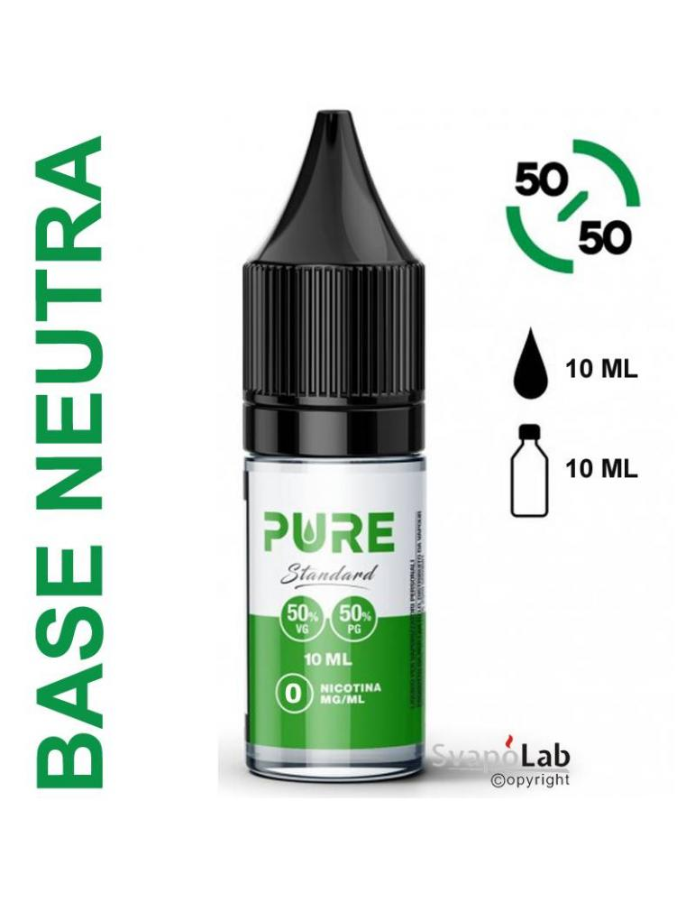Pure BASE 10ml - 50/50 (basetta con e senza nicotina)