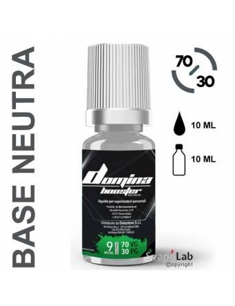 Domina Base BOOSTER 70/30 - 10ml - nic.09mg/ml (basetta neutra con nicotina)