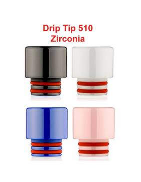 Drip Tip 510 Zirconia (h 12mm)