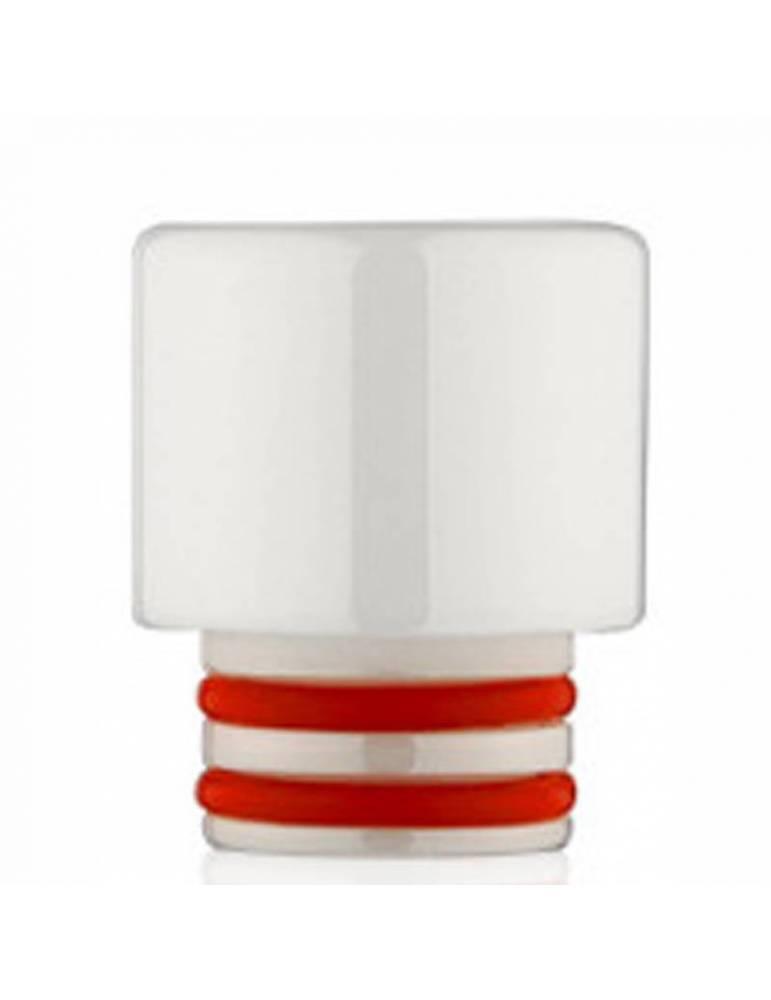 Drip Tip 510 Zirconia (h 12mm) - bianco