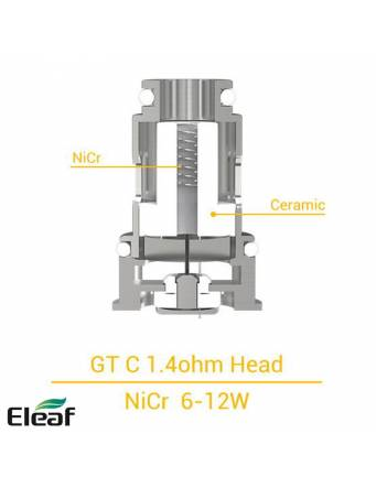 Eleaf GT-C coil Ceramic 1,4ohm/7-14W (1 pz) per IJUST MINI kit e tank