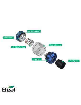 Eleaf ROTOR atomizer 5,5 ml (ø28mm) componenti