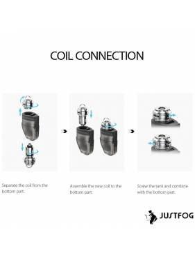 Justfog QPOD kit 900mah – 1,9ml montaggio resistenza