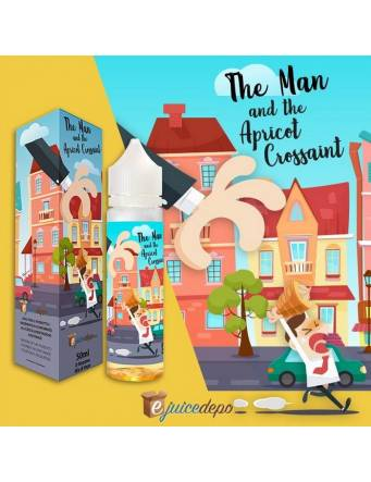 EjuiceDepo THE MAN AND THE APRICOT CROISSANT 50ml Mix&Vape