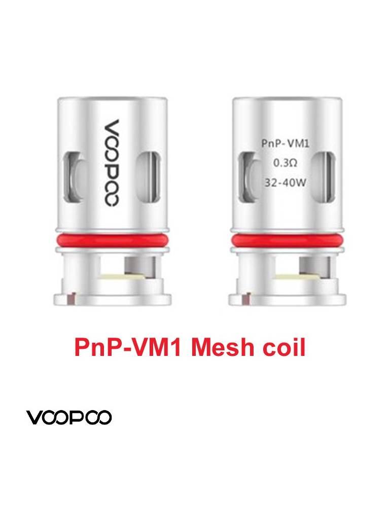 VooPoo VINCI PNP-VM1 coil 0,3 ohm/32-40W (1 pz) per serie Vinci e Drag