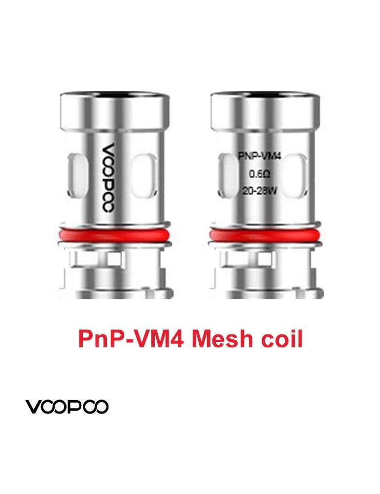 VooPoo VINCI PNP-VM4 coil 0,6 ohm/20-28W (1 pz) per serie Vinci e Drag