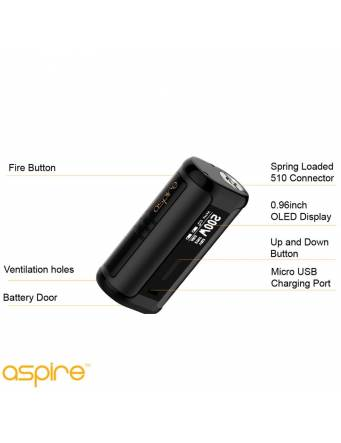 Aspire SPEEDER 200W box mod - componenti