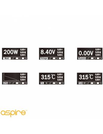 Aspire SPEEDER 200W box mod - potenze variabili