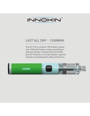 Innokin Go S MTL pen kit 1500mah-2ml (ø20mm) batteria