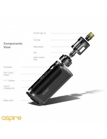 Aspire NAUTILUS GT kit 75w (tank 3ml) componenti