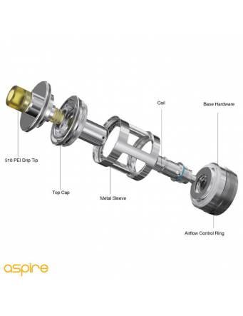 Aspire Nautilus GT tank 3ml/4,2ml (ø24mm) componenti