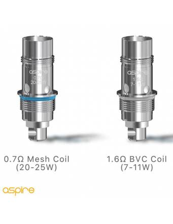 Aspire Nautilus GT tank 3ml/4,2ml (ø24mm) resistenze