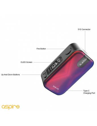 Aspire ROVER 2 NX40 2200mah/40W box mod - pulsanti