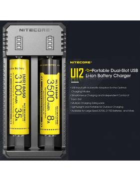 Nitecore New Intellicharger UI2 - caricabatterie - carica multipla