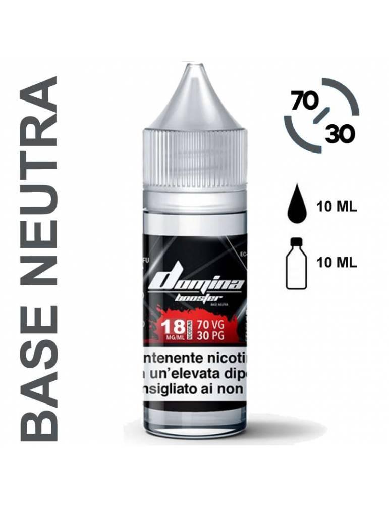 Domina Base BOOSTER 70/30 - 10ml (basetta con nicotina 18mg/ml)