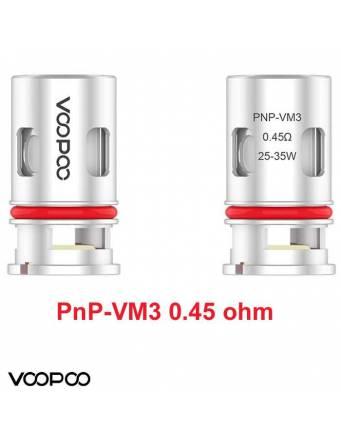 VooPoo PNP-VM3 coil 0,45ohm/25-35W (1 pz) per serie Vinci e Drag