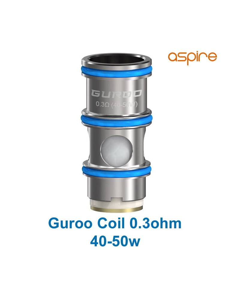Aspire GUROO coil mesh DTL 0,3ohm/40-50W (1pz)
