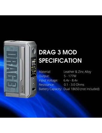 VooPoo DRAG 3 - specifiche tecniche