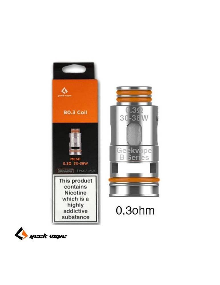Geekvape B coil DTL 0,3ohm/30-38W (1 pz) per Aegis Boost serie, Hero e Z nano